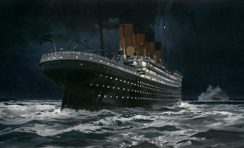 «Титаник» и айсберг фото